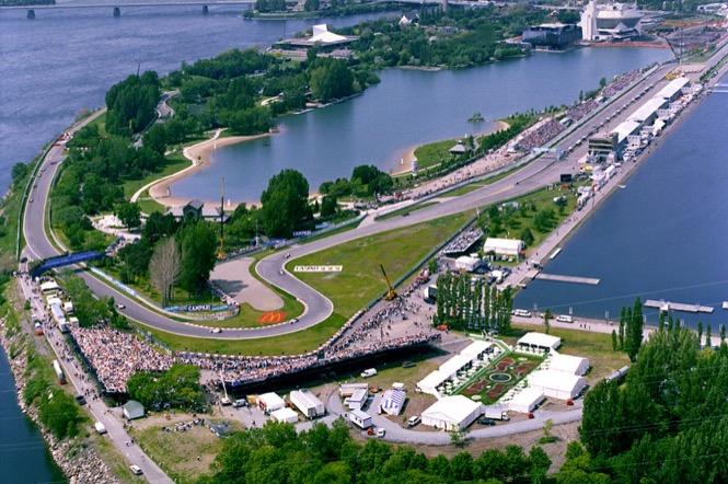 Circuit de formule 1 Gilles-Villeneuve Prix du Canada à Montréal sur le parc Jean Drapeau